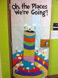"""Oh the Places We're Going!"" Dr. Seuss door decor/bulletin"