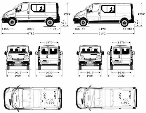 Dimensions Trafic L1h1 Renault Trafic Van Dimensions