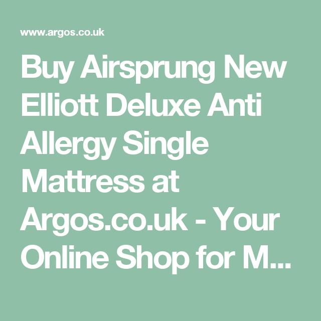 Airsprung New Elliott Deluxe Anti Allergy Single Mattress At Argos Co Uk