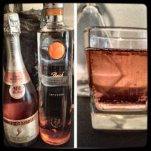 Pink Moscato and Ciroc Peach