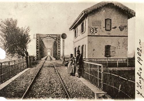 Legnago Ponte ferroviario sullAdige  Foto ex Museo ferroviario di Verona Porta Vescovo
