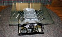 Engine Block coffee table | Man cave | Pinterest