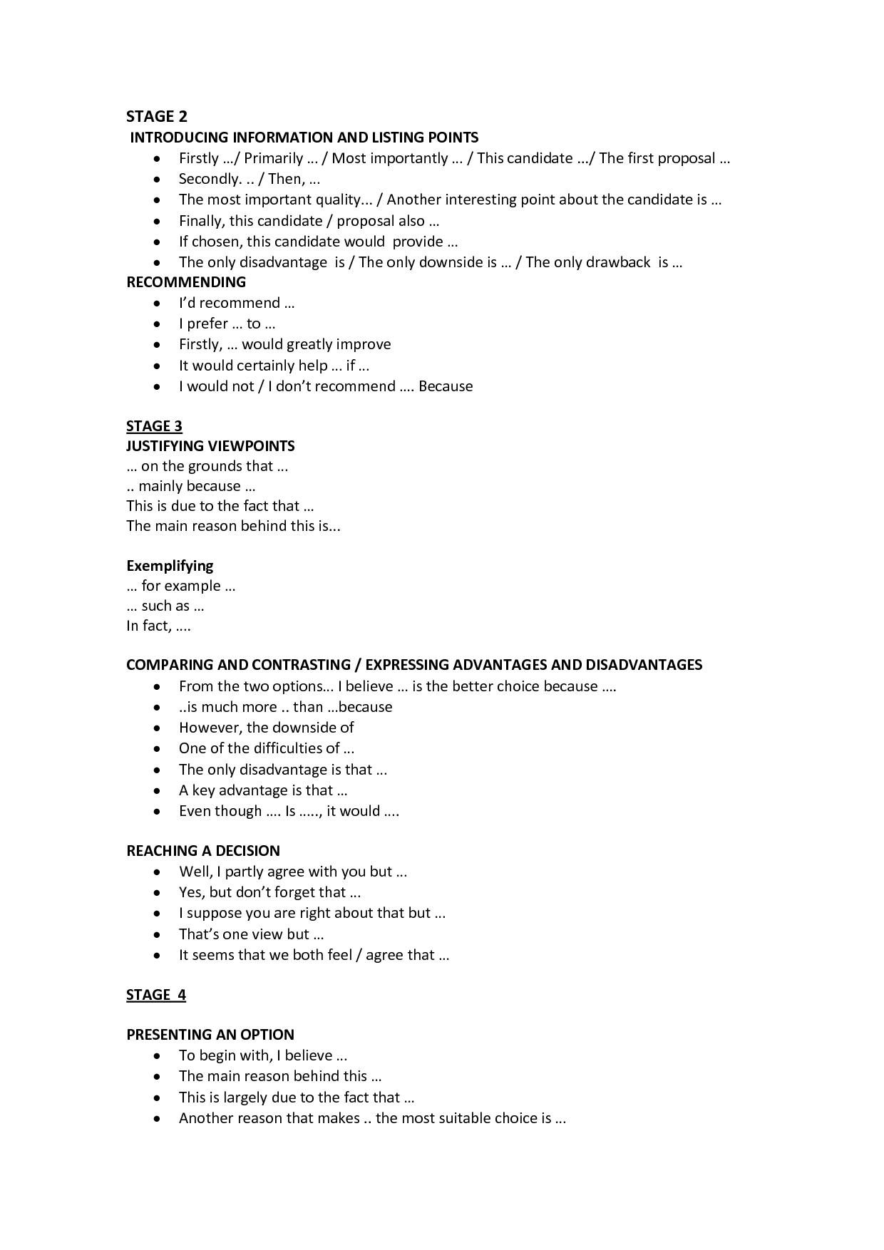 Cover Letter Useful Vocabulary