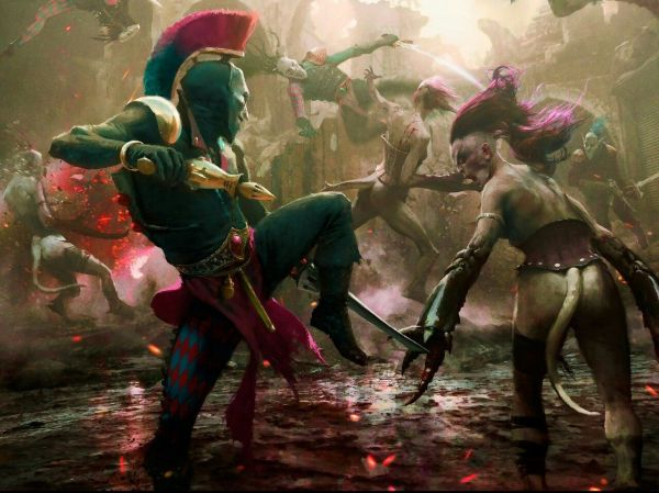 Harlequin Vs Slaanesh Warhammer 40k Art Imgurl