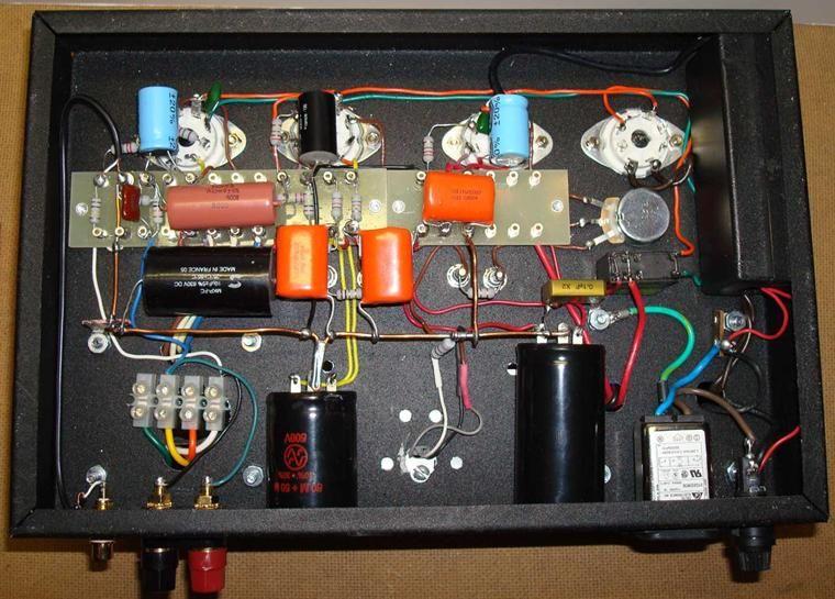 5 Way Fender Super Switch Wiring Diagram 12sl7 Srpp Kt88 Push Pull Tube Amp Inside View Audio