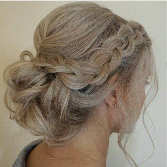 Loose braid and up do  Wedding Hairstyles  Pinterest