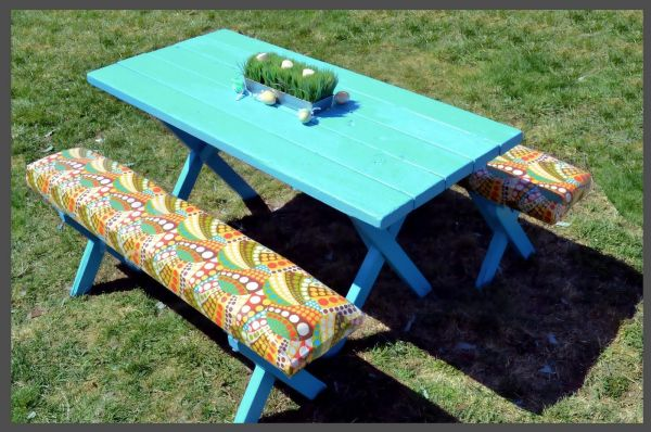 Picnic Table Makeover Love Cheap 99 Home Depot Little Paint And