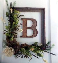 20 Stunningly Beautiful DIY Fall Wreaths | Door monogram ...