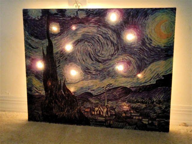 Canvas Lights Behind It