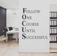 Focus Workplace Definition Quote   Office Decal   Vinyl ...