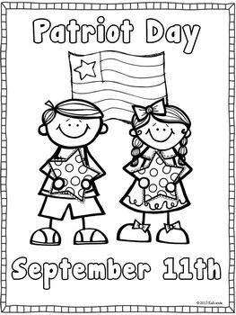 PATRIOT DAY COLORING AND WRITING PAGE {FREEBIE