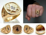 gold masonic rings