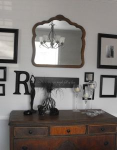 Photo frame collage with vintage dresser also design ideas pinterest rh