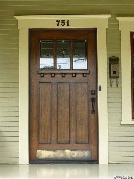 Craftsman door...I love the ledge that allows someone to