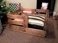 Custom Made Retired Produce Crate Dog Bed | Dog Beds and ...