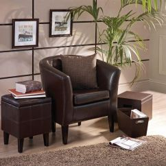 Brown Leather Tub Chair With Footstool Stackable Wooden Chairs Take A Break On Faced From Our Milan Collection And