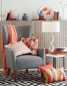 Image result for orange and gray interior design also cabinets the rh pinterest