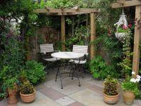 Elegance Small Courtyard Gardens Design Corner Pergola ...