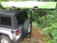 Jeep Sport rack for soft top Jeep Kayaks Hitchmount Rack
