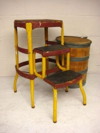 Vintage Kitchen Stool, Cosco Step Stool, Folding Step ...