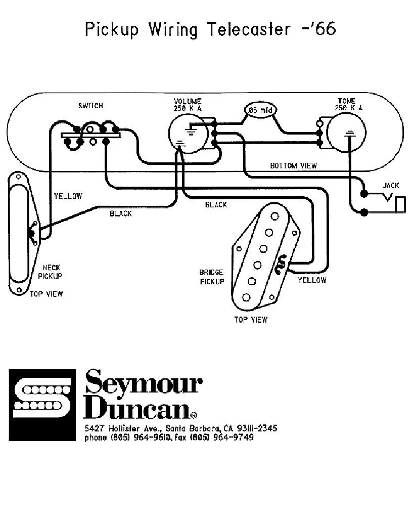 wiring diagram for a telecaster guitar