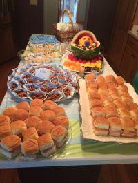 Baby Shower food on a budget. Sandwiches on Hawaiian rolls