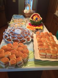 Baby Shower food on a budget. Sandwiches on Hawaiian rolls ...