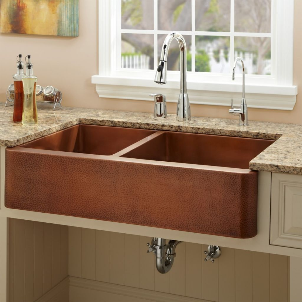 kitchen sink ideas island clearance copper with vintage look for classy