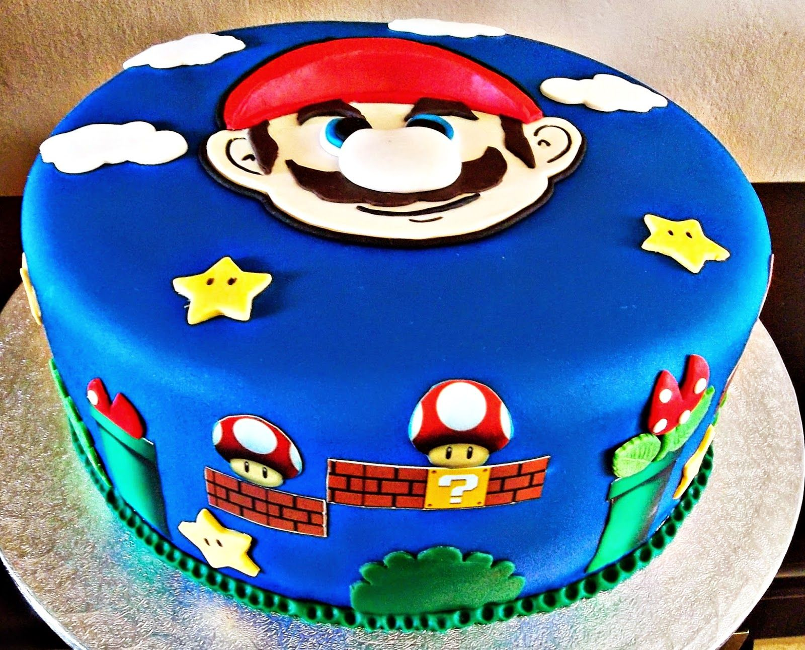 Crema Y Chocolate Tarta Super Mario Bros