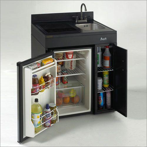 Complete Compact Kitchen from Avanti  Tiny fridge
