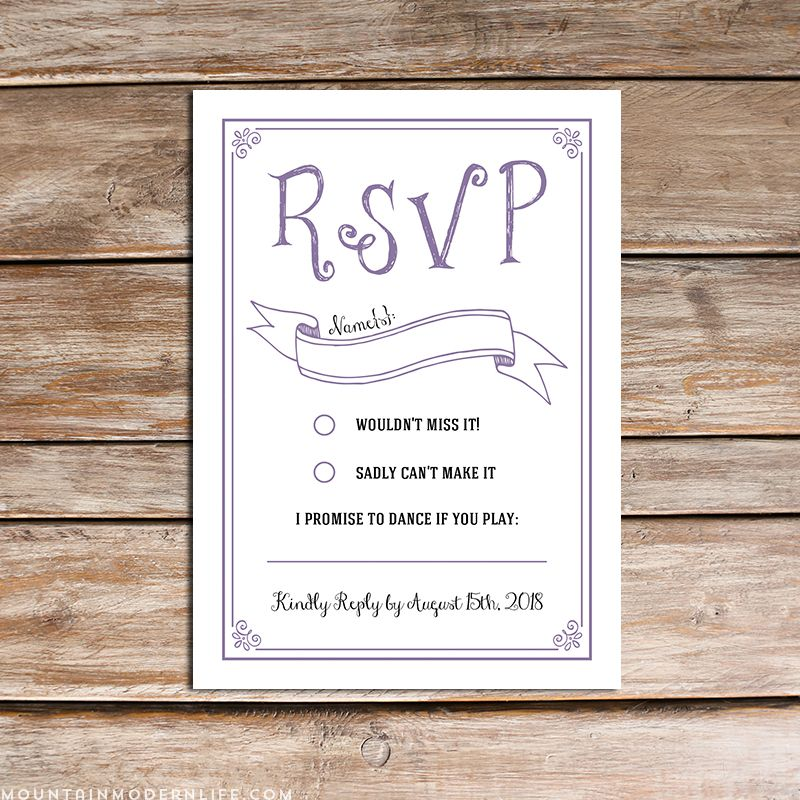 Free Online Wedding Rsvp Template deweddingjpgcom