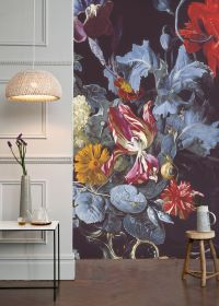 A Vase of Flowers with a Watch Mural by Willem van Aelst ...
