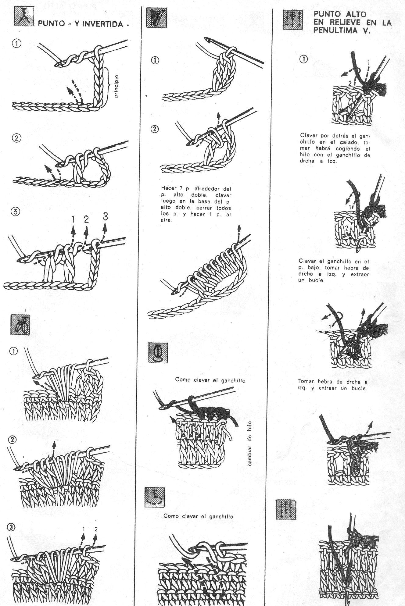 Puntos básicos crochet 3 / Crochet basic stitches 3