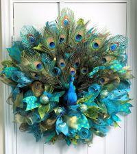 Peacock Deco Mesh, Peacock Wreath, Peacock Feathers ...
