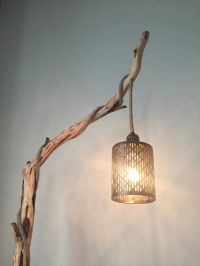 Rustic Floor Lamp Wood Floor Lamp Tree Branch Floor Lamp ...