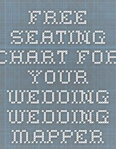 Free seating chart for your wedding mapper also man check rh pinterest