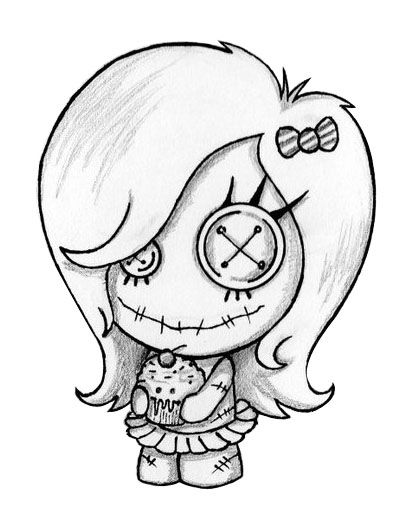 Cupcake Girl Pin Stencils