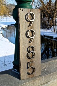 Barn wood sign, House Number Sign, Rustic House Number ...