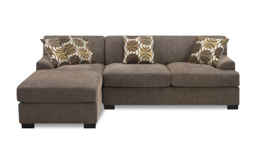 montreal sectional sofa in slate poltrona bolzano poundex montereal 2 piece chaise love collection set with found it at wayfair left hand facing