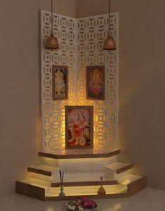 Best pooja room design by interior designer kamlesh maniya india also rh sk pinterest