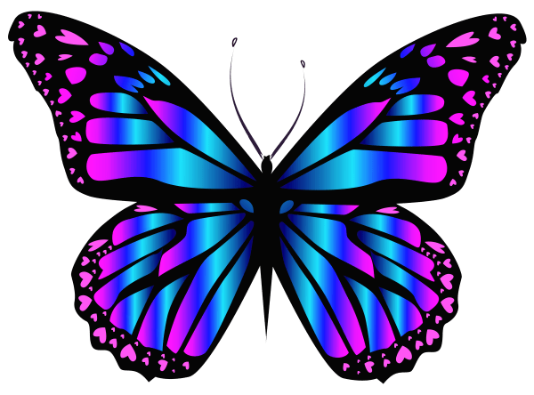 blue and purple butterfly clipar