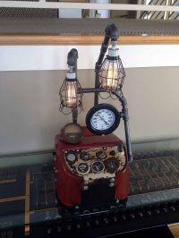 Steampunk Lamp Unique Industrial Antique Tractor Dash ...