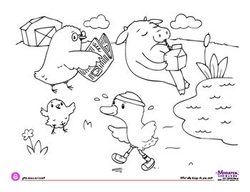 Coloring Page What silly things do you see? Theme: Farm