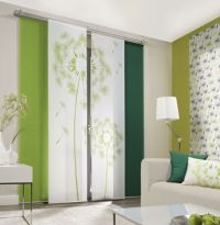 Dandelion Allover 1 Sliding Curtain Panels Room Dividers ...