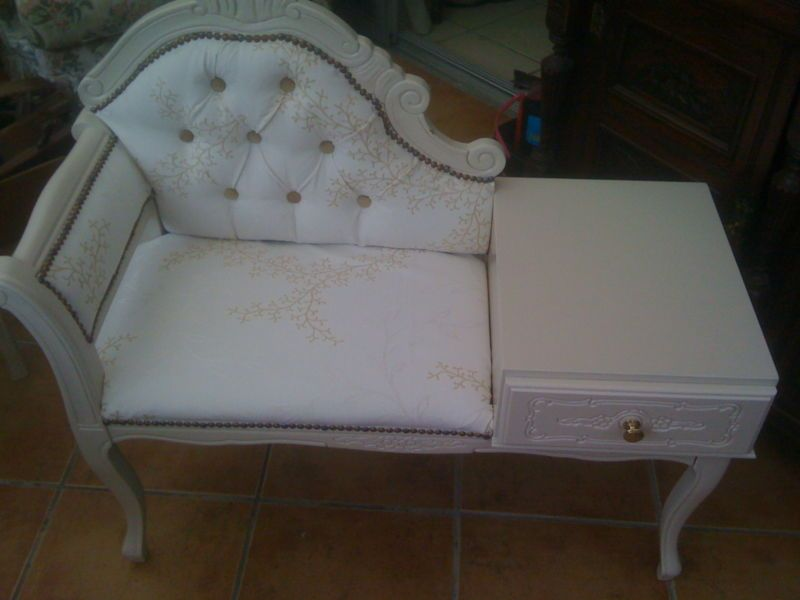 SHABBY CHIC TELEPHONE TABLE SEAT