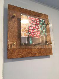 Wood Floating Display Frames in the kitchen  DIY frame