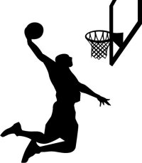 Basketball Player Silhouette Wall Decal Vinyl by ...