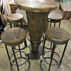 Tall Round Bar Table And Chairs Target Chair Slipcovers Morella Wood Pub 599 1225 51003416 I Celadonathome