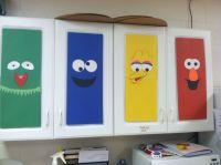 Preschool Classroom cabinet decorations