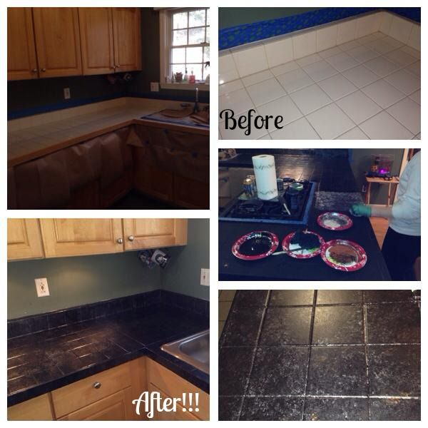 granite kitchen counters wire shelves best 25+ painting tile countertops ideas on pinterest ...